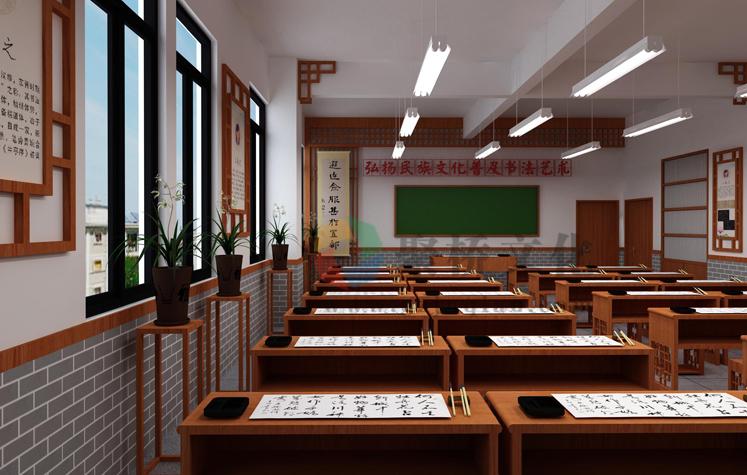 小学书法室环境文化建设