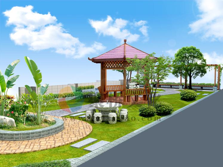 风采实验学校濂溪园景观建设