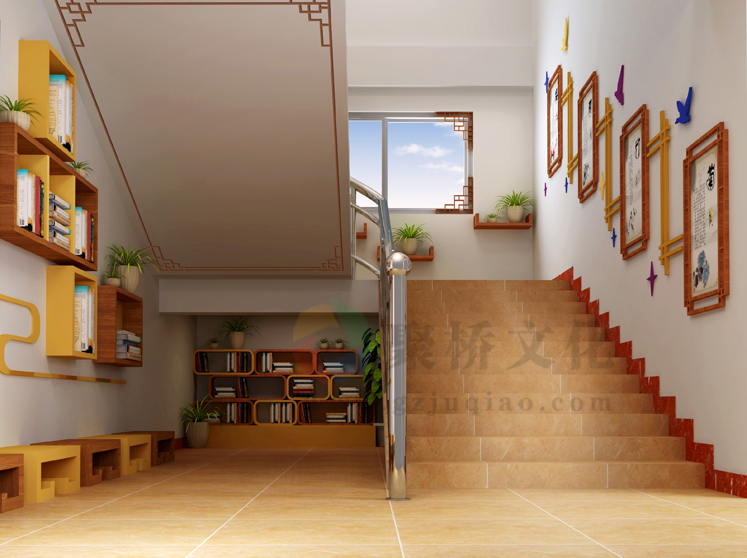 小学学校楼梯文化设计