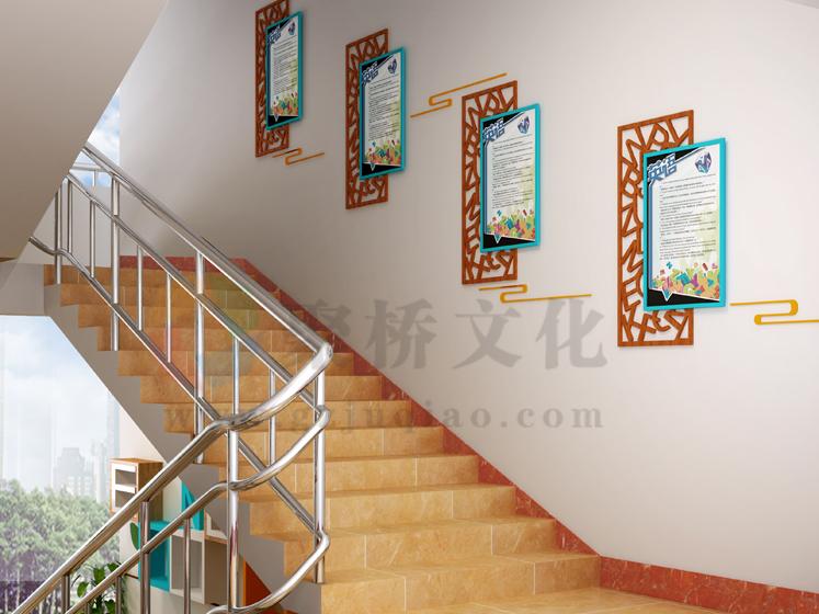 中学学校楼梯间文化设计