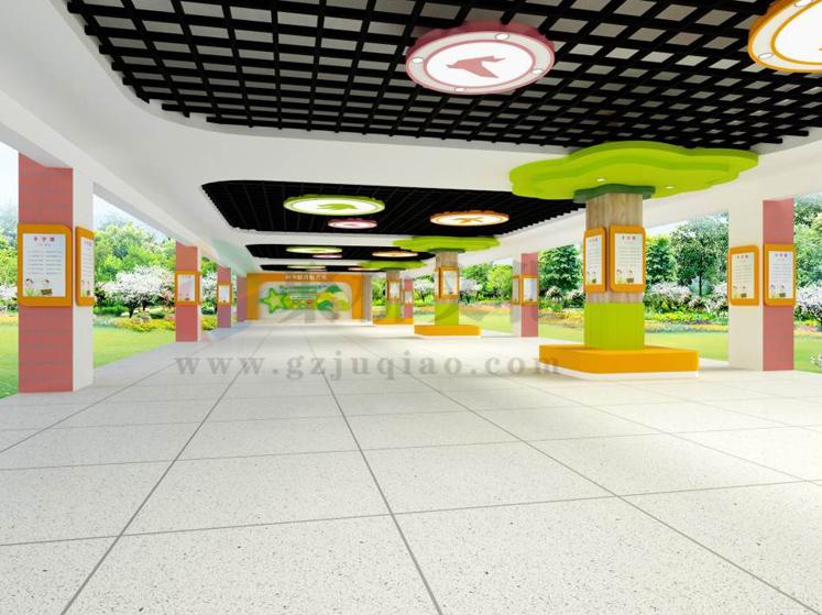 小学和平鸽诗歌大厅文化建设