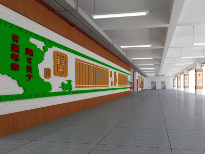 翁源实验小学长廊文化设计