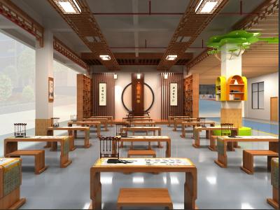 茶山小学厅廊文化设计