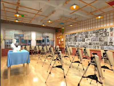 学校美术功能室文化建设
